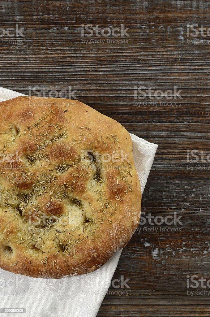 Rosemary Focaccia Bread stock photo