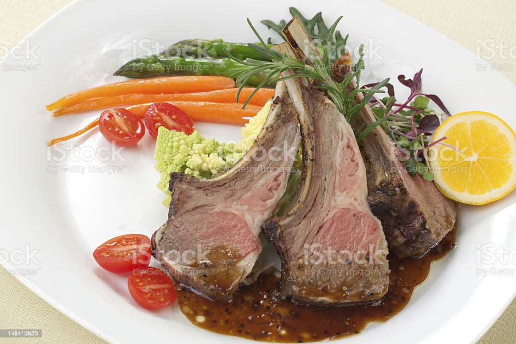 Rosemary Lamb Chops royalty-free stock photo