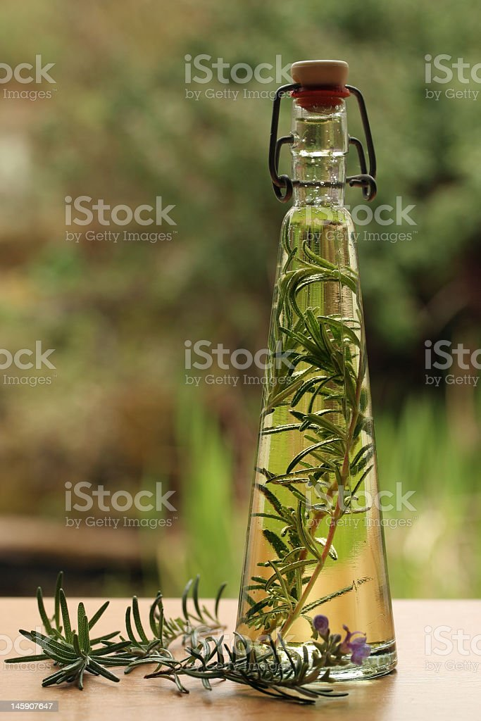 rosemary oil stock photo