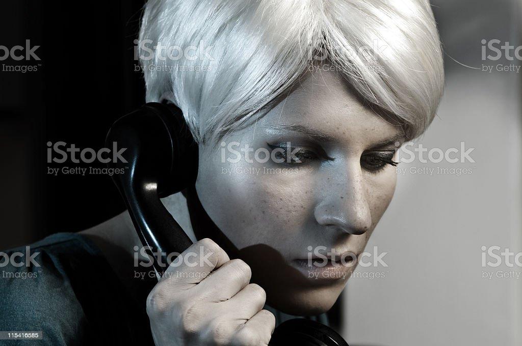 Rosemary on the phone royalty-free stock photo