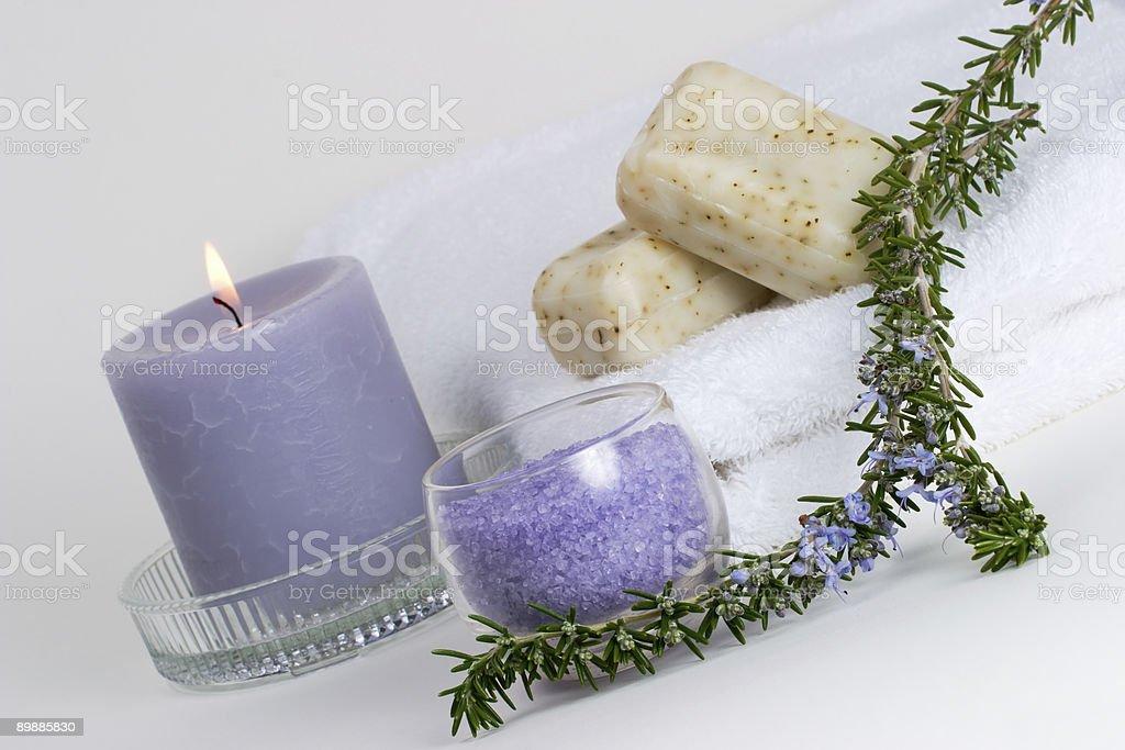 Rosemary spa-set Lizenzfreies stock-foto