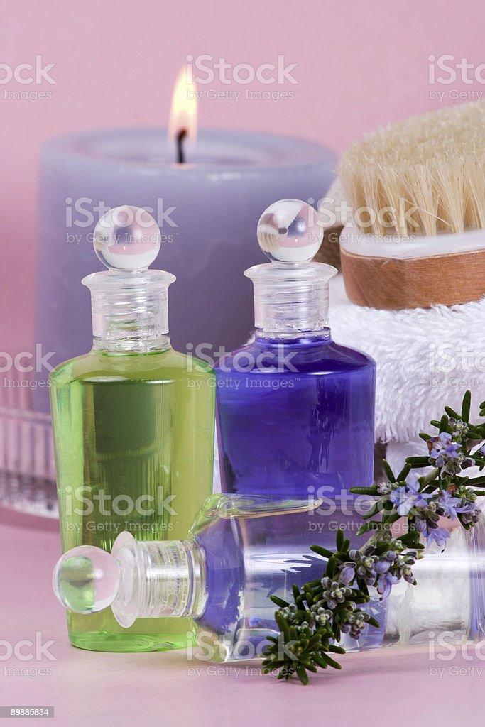 Rosemary spa set royalty-free stock photo