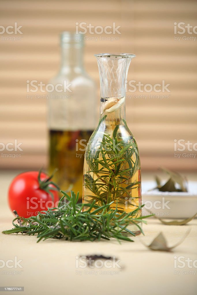 Rosemary vinegar royalty-free stock photo