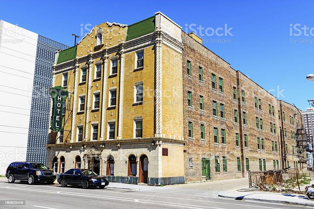 Rosemoor Hotel in Chicago stock photo
