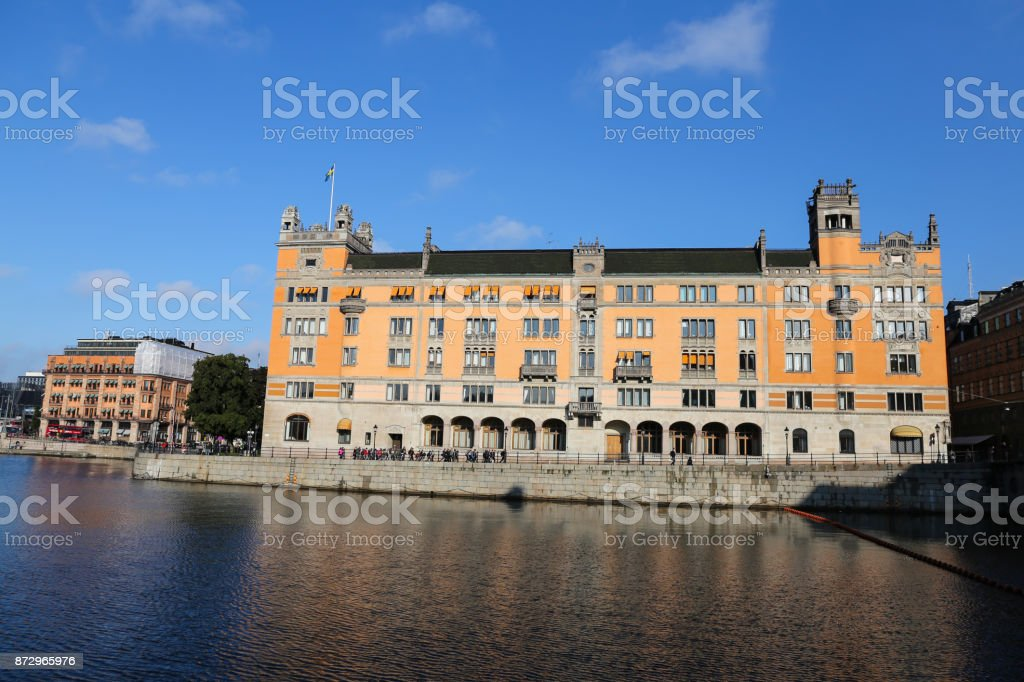 Rosenbad in Stockholm, Sweden stock photo