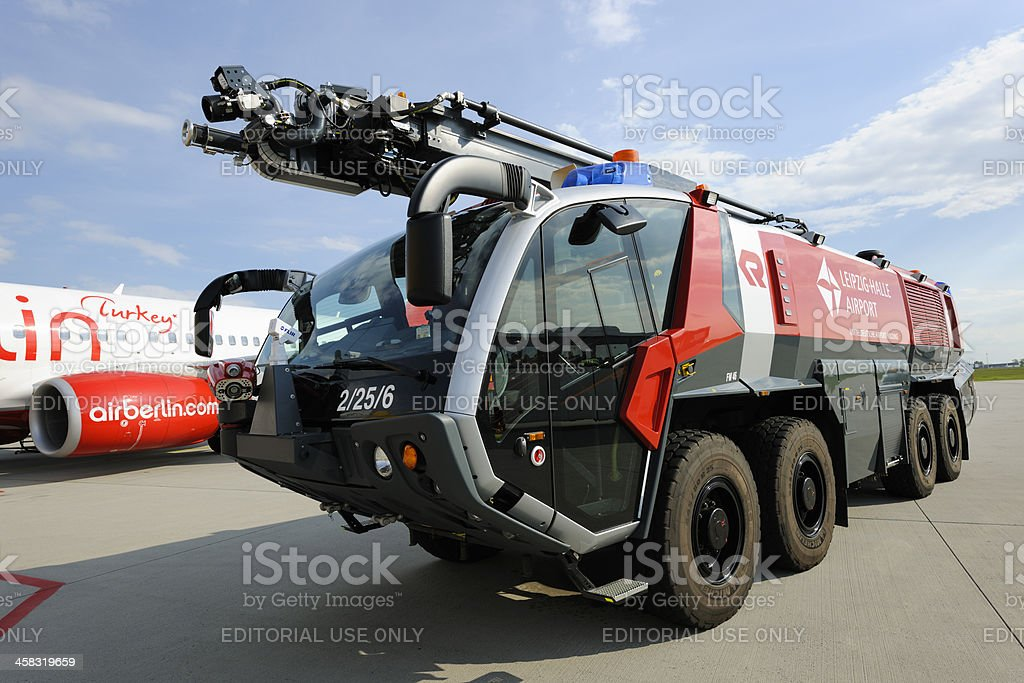 Rosenbauer Panther 8x8 CA7 HRET SWB Airport Fire Engine royalty-free stock photo