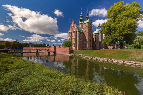 Rosenborg Castle in Copenhagen, Denmark stock photo