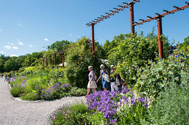 Rosendals Tradgard at summertime in Stockholm stock photo
