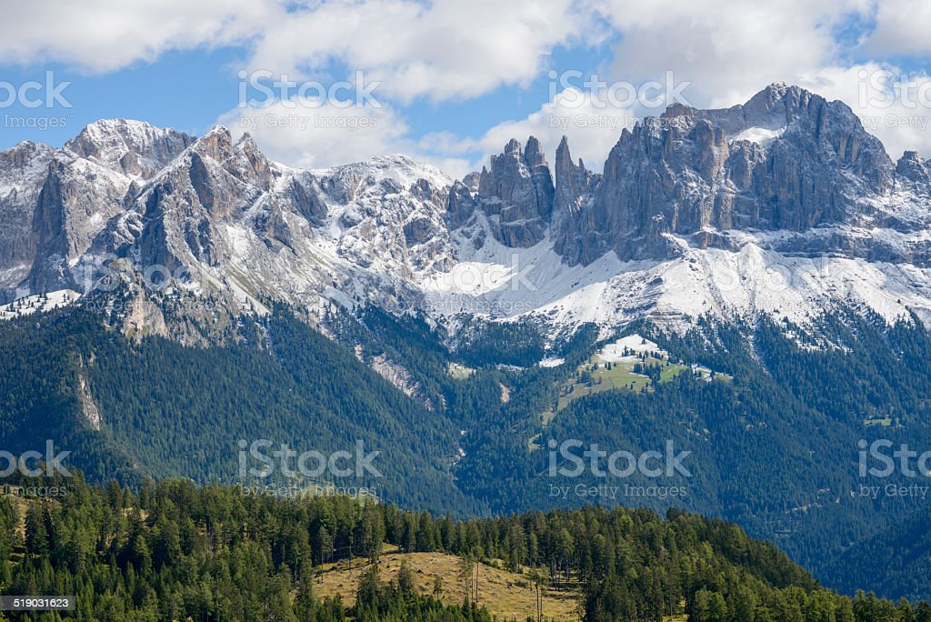Rosengarten, Catinaccio stock photo