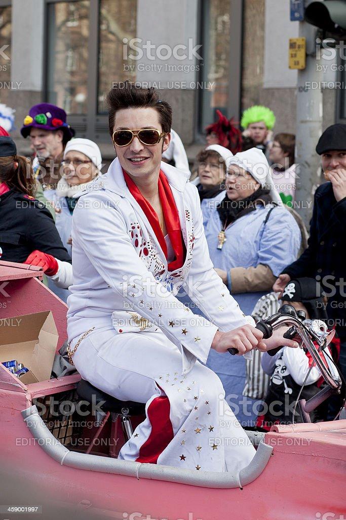 Rosenmontagszug, Street carnival on Rose Monday in Mainz, Germany stock photo