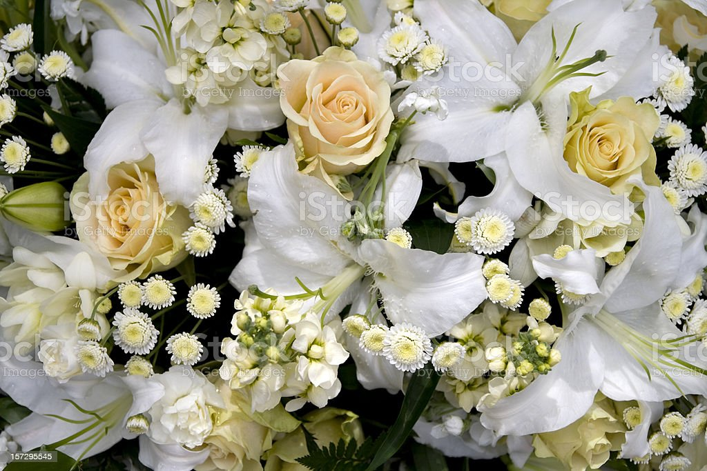 Roses and lilies royalty-free stock photo