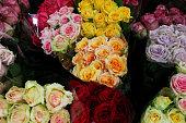 Roses for Valentine's Day In Sydney Market