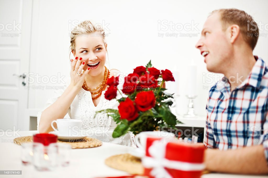 Roses for valentines day royalty-free stock photo