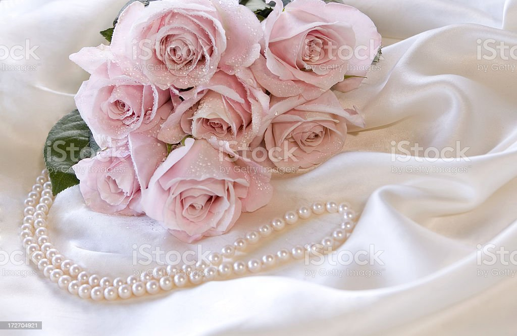 Roses & Pearls royalty-free stock photo
