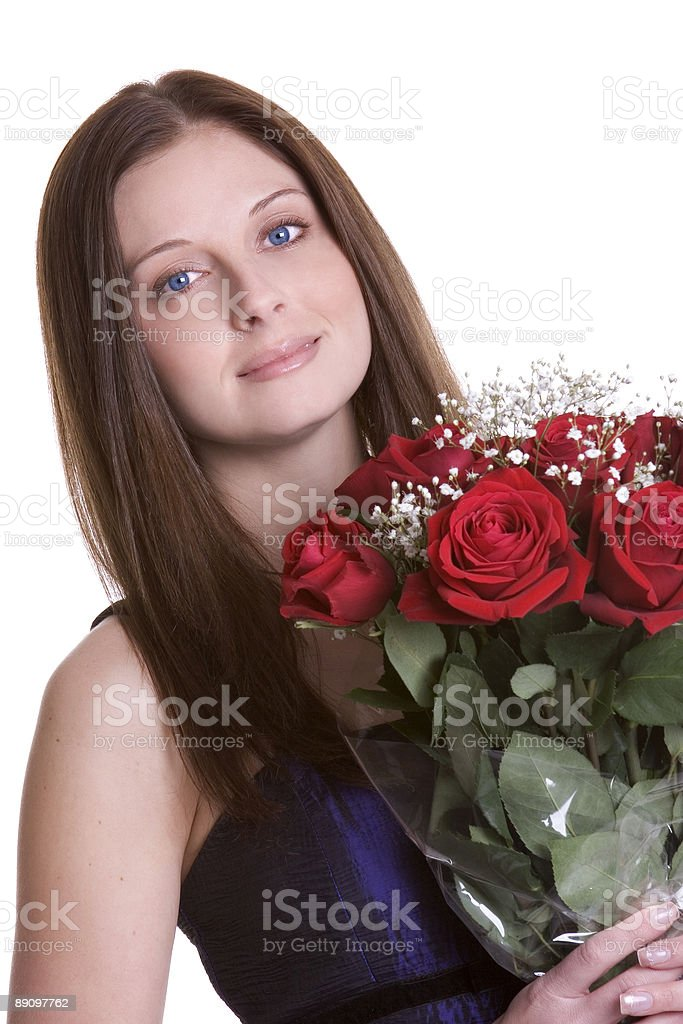 Di Rose donna foto stock royalty-free