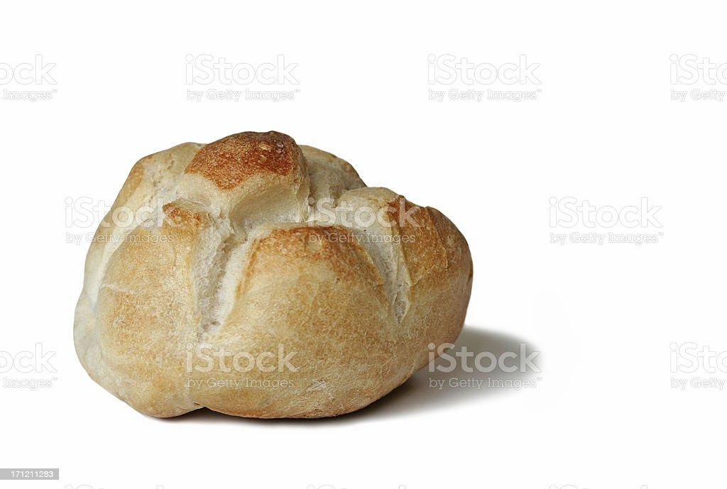 Rosetta on White - Italian bread roll royalty-free stock photo