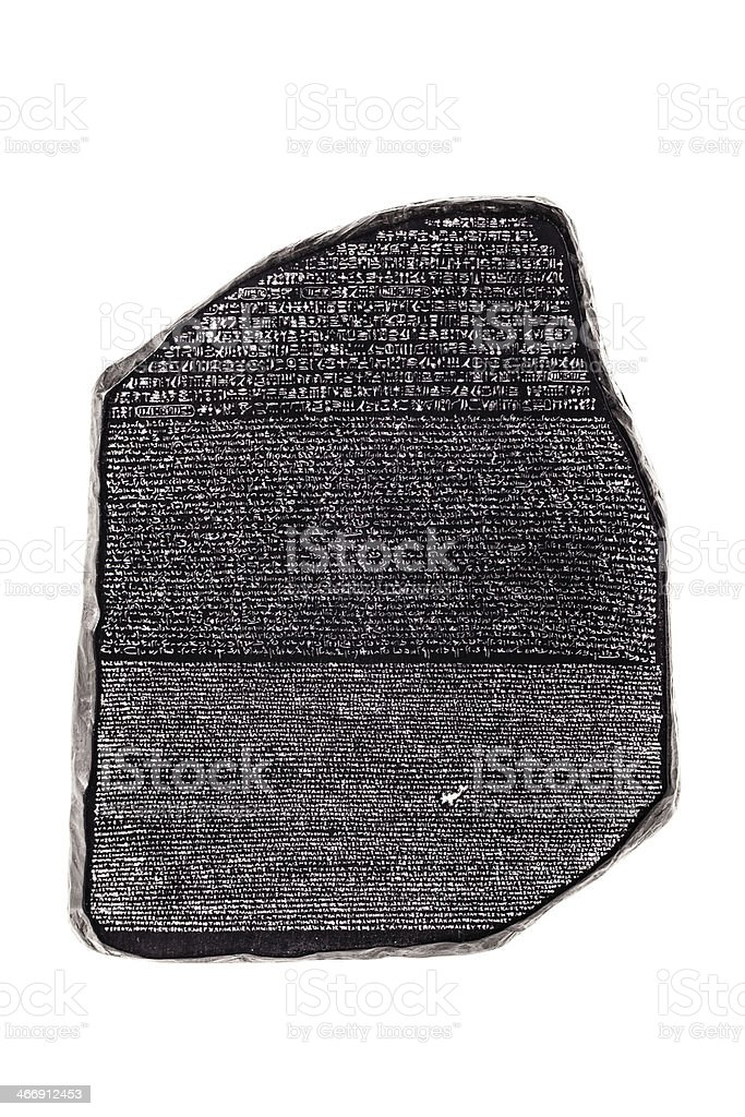 rosetta stone stock photo