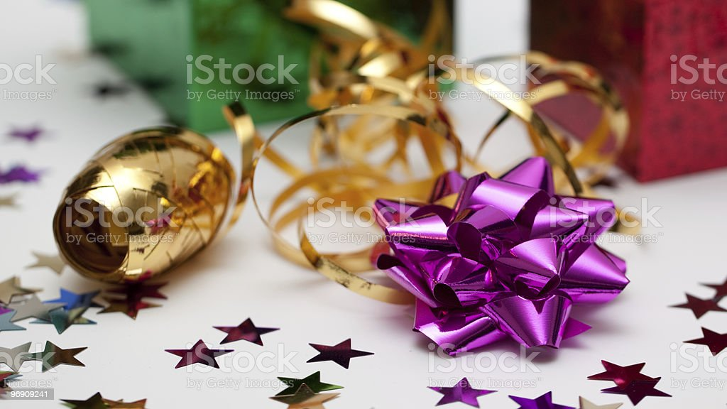 Rosette and ribbon royalty-free stock photo