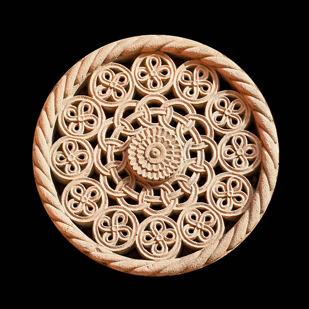 rosette - rose window stock pictures, royalty-free photos & images