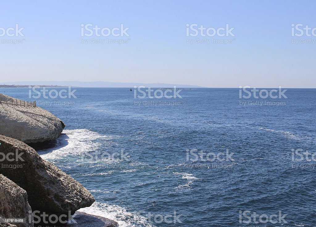 Rosh Hanikra Israel stock photo