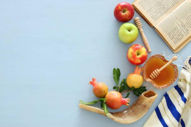 rosh hashanah (yahudi yeni yıl tatili) kavramı - rosh hashana stok fotoğraflar ve resimler