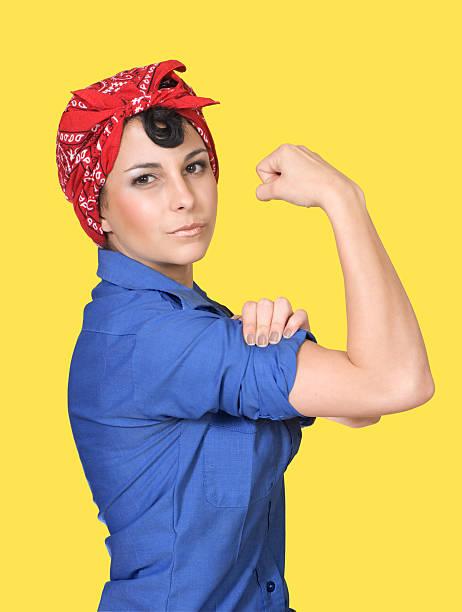Rosie the Riveter stock photo