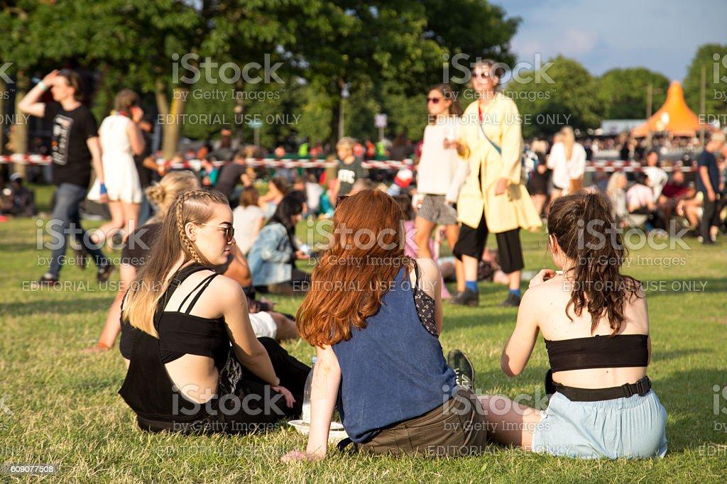 Roskilde Festival 2016 stock photo