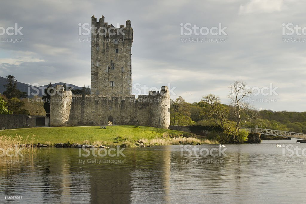Ross Castle Ireland, County Kerry stock photo