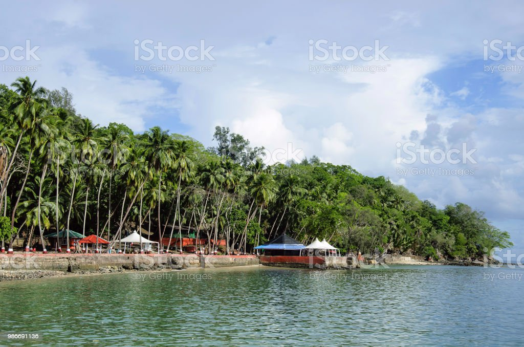 Ross Island, Andaman and Nicobar Island, India stock photo