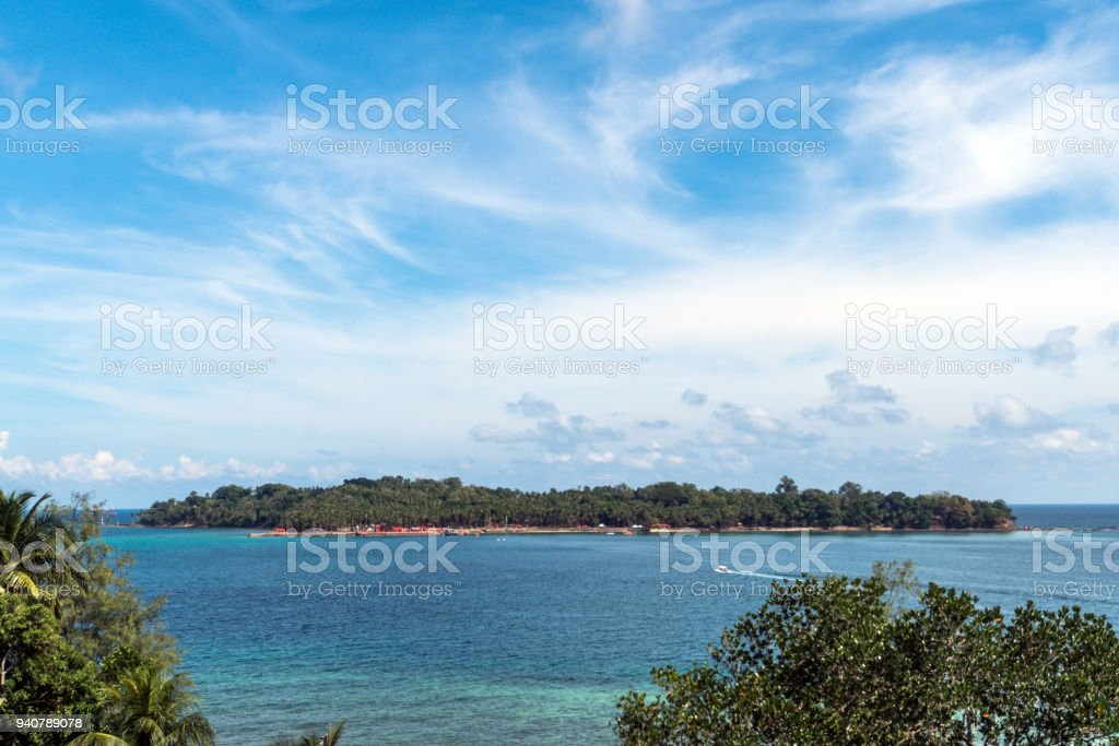 Ross island is the top view. stock photo