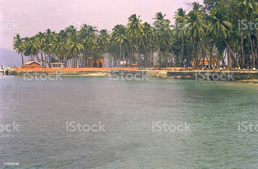 Ross Island near Port Blair stock photo