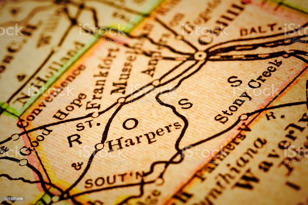 Ross Ohio County Maps Stock Photo More Pictures Of 2015 Istock