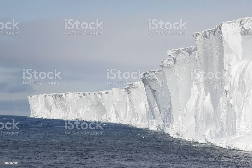 Ross Sea Ice Shelf stock photo