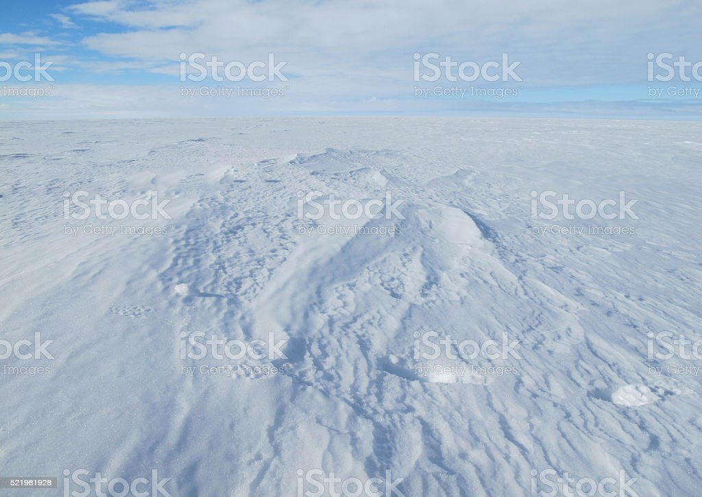 Ross Sea Ice Shelf Surface stock photo