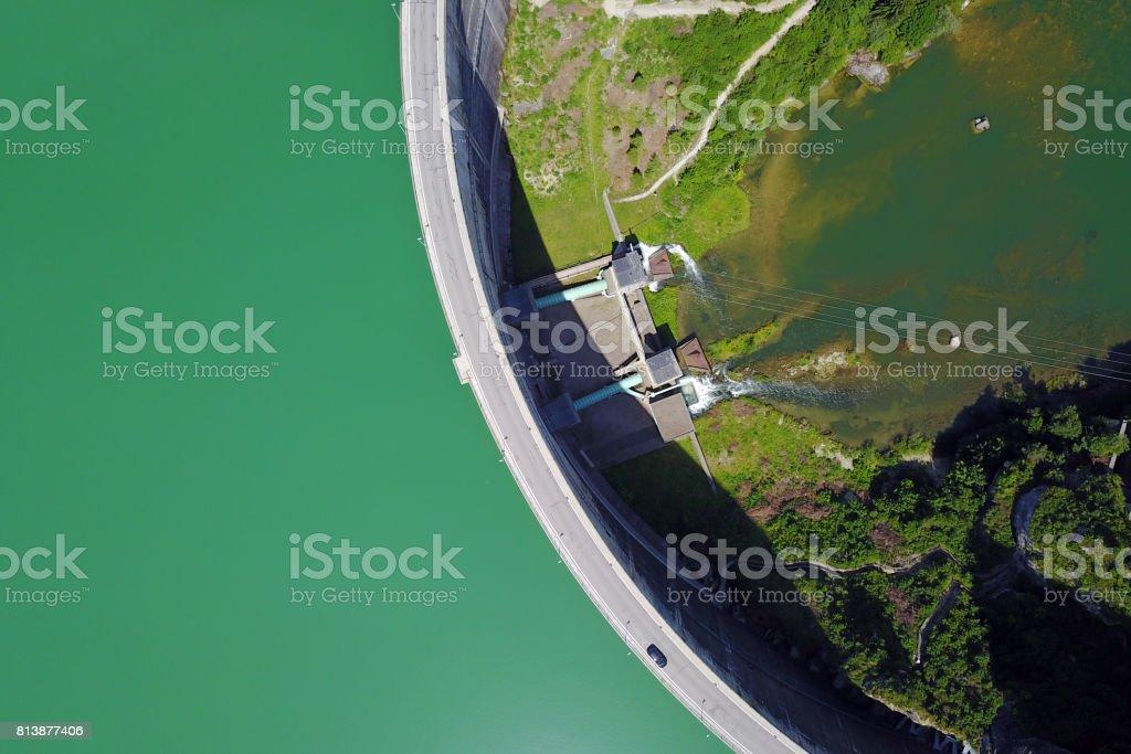 Rossens Dam, Switzerland stock photo