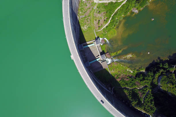 Rossens Dam, Switzerland stock photo