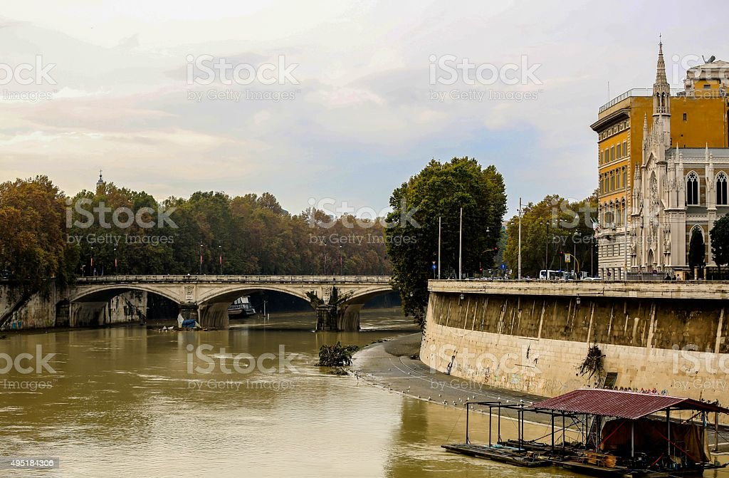Сrossing the Tiber stock photo