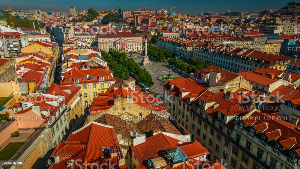 Rossio, Lisbon, Portugal stock photo