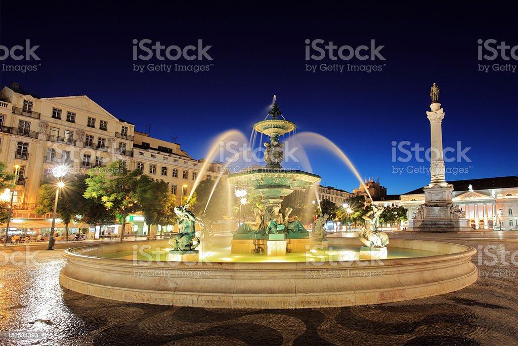 Rossio square Lisbon, Portugal stock photo