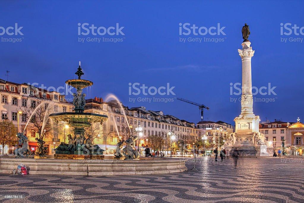 Rossio Square, Lisbon, Portugal stock photo
