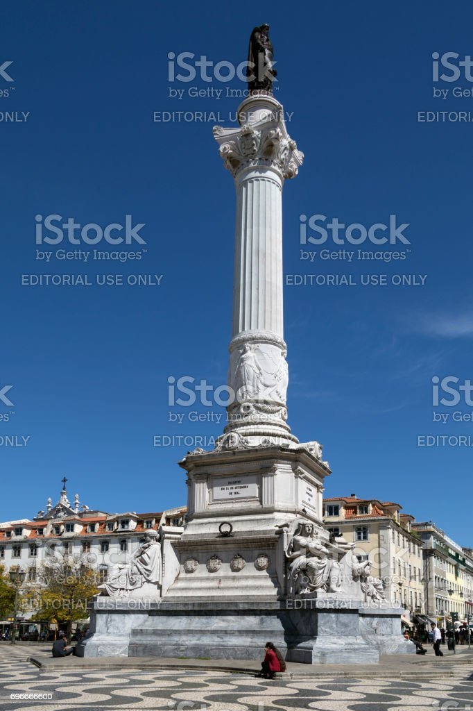 Rossio Square - Lisbon - Portugal stock photo