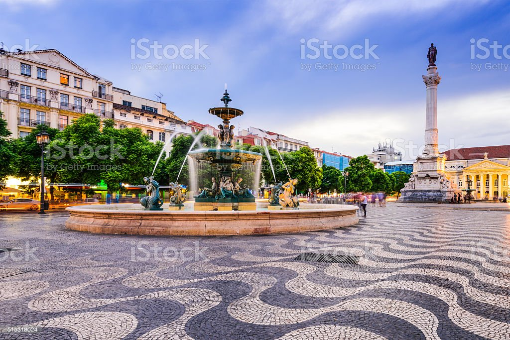 Rossio Square of Lisbon stock photo