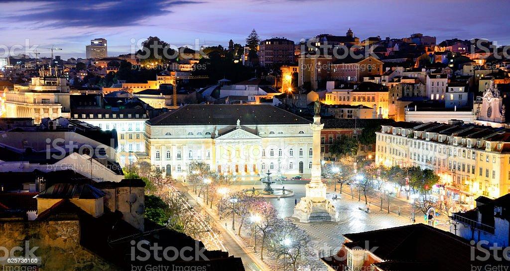 Rossio Square of Lisbon stock photo