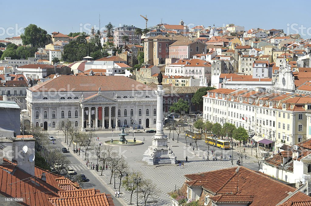 Rossio Square royalty-free stock photo