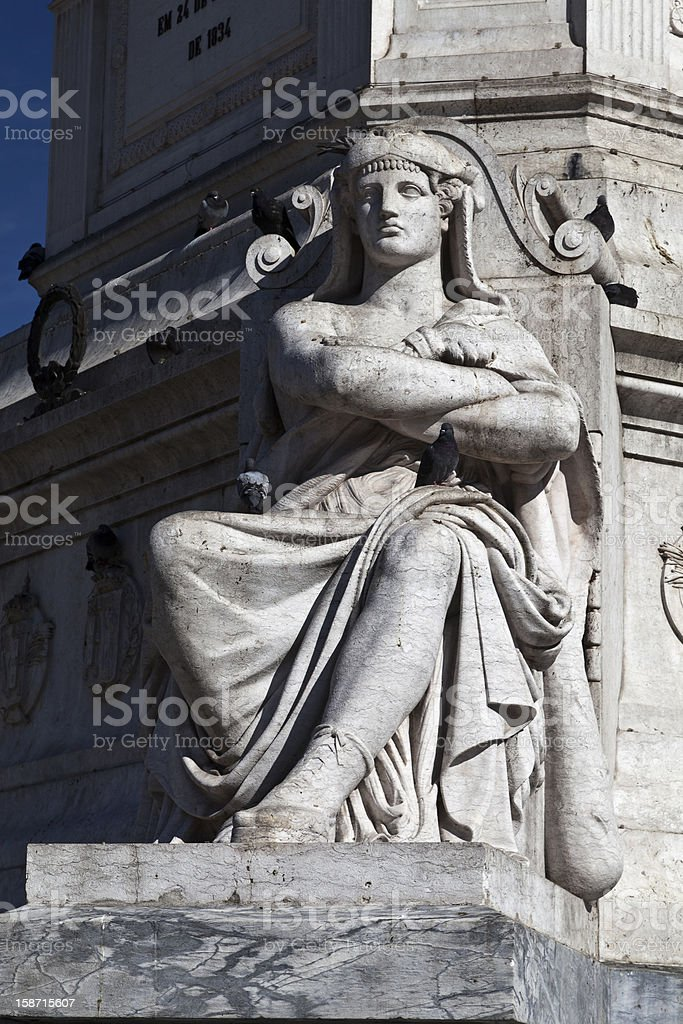 Rossio Statue royalty-free stock photo
