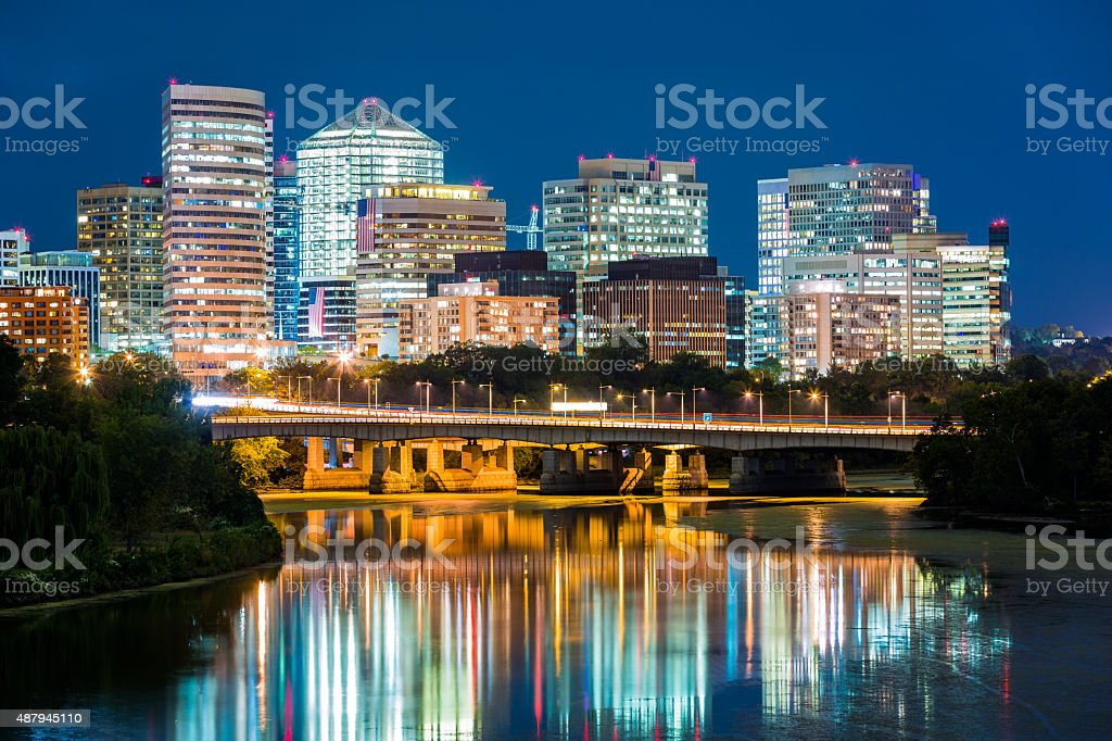 Rosslyn district skyline stock photo