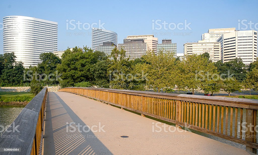 Rosslyn from Theodore Roosevelt Island stock photo