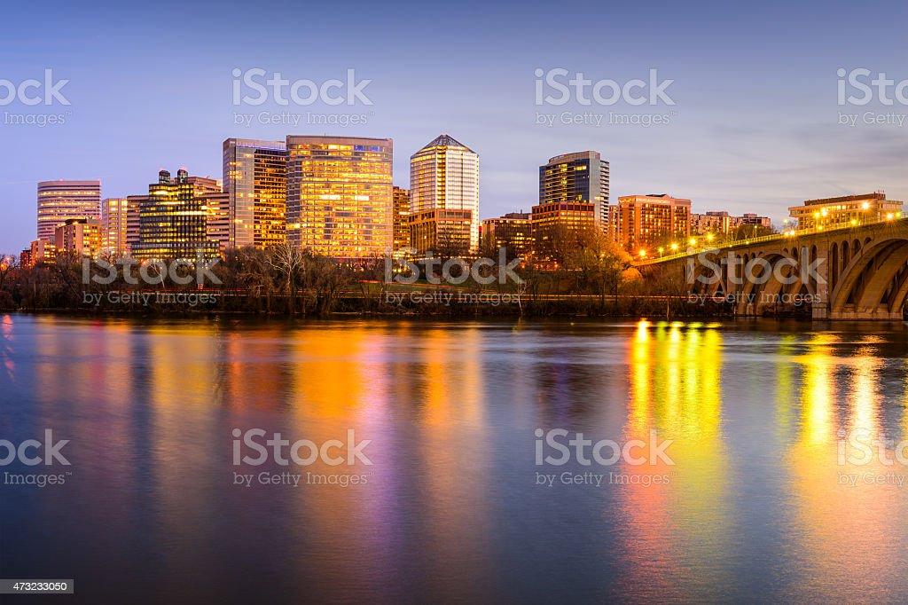 Rosslyn Virginia Skyline stock photo