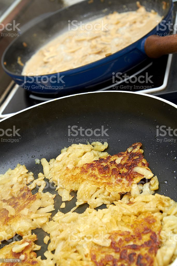 rosti in a pan royalty-free stock photo