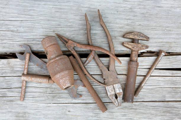 rostige handwerkzeug - 양구 스패너 뉴스 사진 이미지